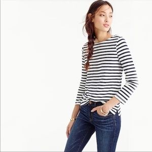 J. Crew Striped Boatneck Tee